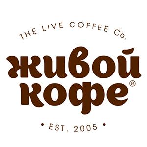 Живой кофе логотип