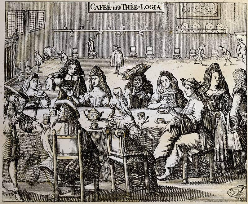 Одна из первых кофеен